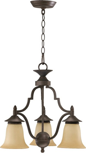 "Coventry Family 19"" Toasted Sienna Chandelier 616-3-44"