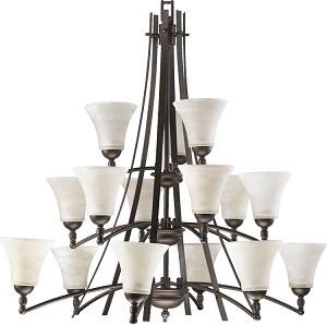 "Aspen Family 40"" Oiled Bronze Chandelier 6177-15-86"