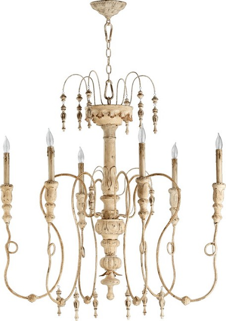 "Salento Series 6-Light 39"" Persian White Chandelier 6206-6-70"