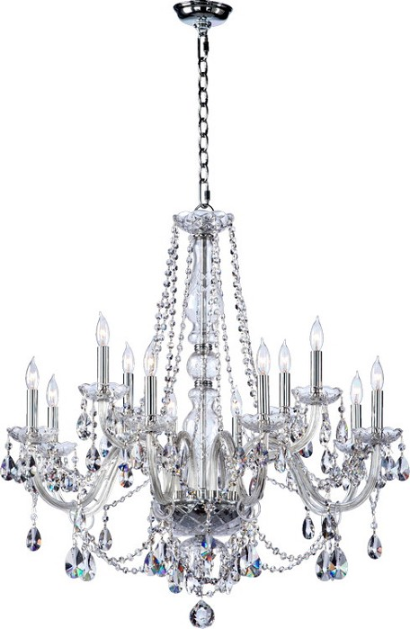 "Bohemian Katerina Family 26"" Chrome Chandelier 630-12-514"