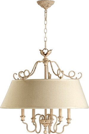 "Salento Series 5-Light 25"" Persian White Chandelier 6306-5-70"