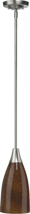 "Quorum International 1-Light 14"" Satin Nickel Pendant 6368-65"