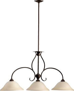 "Spencer Family 45"" Oiled Bronze Island Light 6510-3-86"