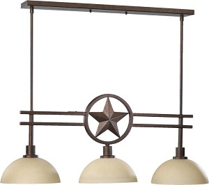 "Lone Star Family 35"" Toasted Sienna Island Light 6528-3-44"
