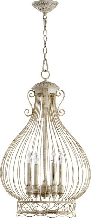 "Quorum International 4-Light 30"" Persian White Pendant 6764-4-70"