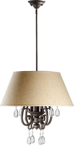 "Anders Family 4-Light 23"" Oiled Bronze Pendant 6813-4-86"