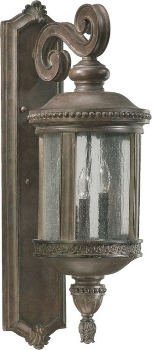 "Dauphine Family 3-Light 26"" Etruscan Sienna Outdoor Wall Lantern 7280-3-43"