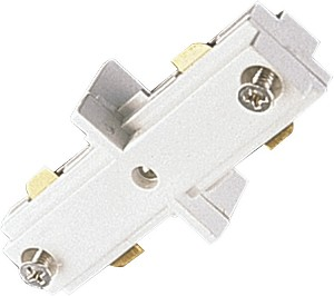 Quorum International Track Light White Straight Connector 7304-06