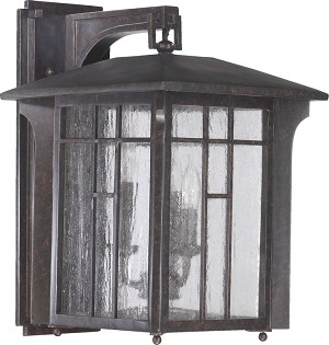 Arts & Crafts Family 3-Light Baltic Granite Outdoor Lantern 7500-3-45