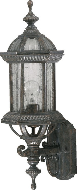 "Stelton Family 1-Light 19"" Baltic Granite Outdoor Wall Lantern 7810-45"