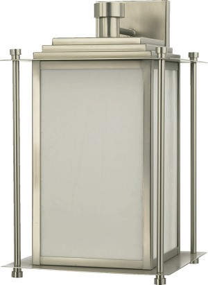 "Shoreham Family 4-Light 15"" Satin Nickel Outdoor Wall Lantern 7950-4-65"