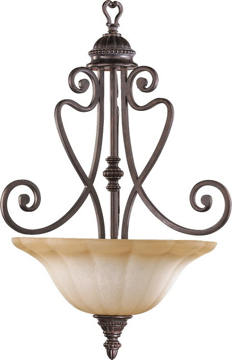 "Summerset Family 3-Light 26"" Toasted Sienna Pendant 8326-3-44"