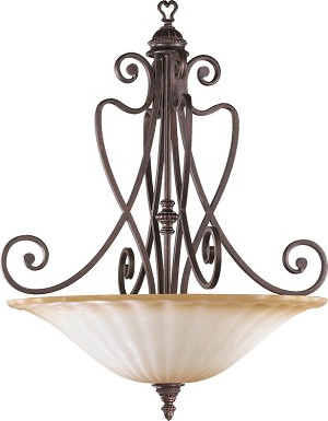 "Summerset Family 5-Light 37"" Toasted Sienna Pendant 8326-5-44"