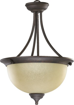 "Ashton Family 3-Light 23"" Toasted Sienna Pendant 835-44"