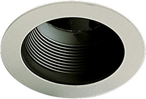 "Quorum International 5"" Black Stepped Baffle Recessed Light 9500-015"