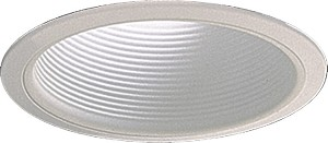 "Quorum International 7"" White Stepped Baffle R30 Recessed Light 9700-06"