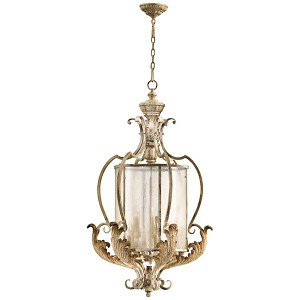 "Florence Collection 9-Light 41"" Persian White Pendant Chandelier with Seeded Glass 6837-4-70"