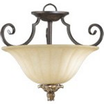 "Capella Family 15"" Toasted Sienna With Golden Fawn Dual Mount Ceiling Light 2801-15-44"