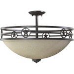 "Lone Star Family 20"" Toasted Sienna Dual Mount Ceiling Light 2828-21-44"