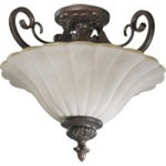 "Coronado Family 17"" Gilded Bronze Dual Mount Ceiling Light 2895-17-38"