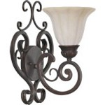 Coronado Family 1-Light Gilded Bronze Wall Sconce 5195-1-38