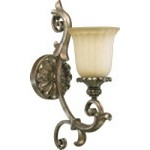 Barcelona Family 1-Light Mystic Silver Wall Sconce 5400-1-58