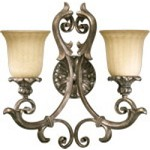 Barcelona Family 2-Light Mystic Silver Wall Sconce 5400-2-58