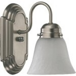 "Quorum International 1-Light 8"" Satin Nickel Wall Sconce 5494-1-165"