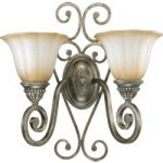 Summerset Family 2-Light Mystic Silver Wall Sconce 5526-2-58