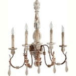 La Maison Family 5-Light Manchester Grey w/ Rust Accents Wall Sconce 5552-5-56