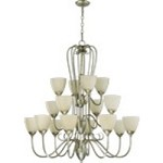 "Powell Family 38"" Mystic Silver Chandelier 6008-16-58"