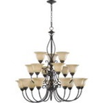 "Spencer Family 38"" Toasted Sienna Chandelier 6010-18-44"
