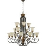 "Capella Family 46"" Toasted Sienna With Golden Fawn Chandelier 6101-16-44"