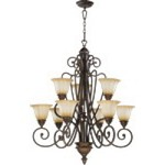 "Summerset Family 32"" Toasted Sienna Chandelier 6126-9-44"