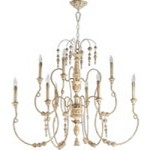 "Salento Series 9-Light 40"" Persian White Chandelier 6206-9-70"