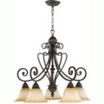 "Summerset Family 29"" Toasted Sienna Chandelier 6326-5-44"