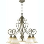 "Summerset Family 29"" Mystic Silver Chandelier 6326-5-58"