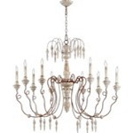 "La Maison Family 45"" Manchester Grey w/ Rust Accents Chandelier 6352-10-56"