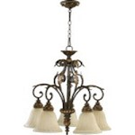"Rio Salado Family 28"" Toasted Sienna With Mystic Silver Chandelier 6457-5-44"