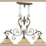 "Barcelona Family 47"" Mystic Silver Island Light 6500-3-58"