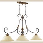 "Capella Family 50"" Toasted Sienna With Golden Fawn Island Light 6501-3-44"