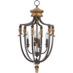 "Capella Family 13"" Toasted Sienna With Golden Fawn Entryway Light 6701-4-44"