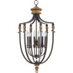 "Capella Family 15"" Toasted Sienna With Golden Fawn Entryway Light 6701-6-44"