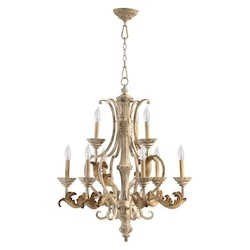 "Florence Collection 9-Light 34"" Persian White Chandelier 6037-9-70"