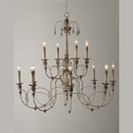 "Salento Series 12-Light 39"" Persian White Chandelier 6106-12-70"