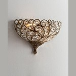 "Senecal Trump Home Collection 2-Light 8"" Spanish Bronze Egyptian Crystal Pocket Wall Sconce 2400/2"