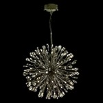 "Lunasphere Design 32-Light Chrome 20"" Hanging Pendant with Clear Crystals SKU# 10795"