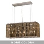 "Ibiza Design 8-Light 32"" Chrome Rectangular Chandelier Pendant with European or Swarovski Crystals SKU# 10266"