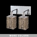"Hollywood Design 2-Light 8"" Square Wall Sconc  30% Lead or Swarovski Spectra Crystal SKU# 11341"