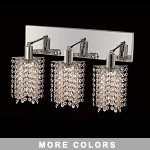 "Hollywood Design 3-Light 15"" Star Wall Sconce Rectangular Bath Bar Dressed with  30% Lead or Swarovski Spectra Crystal SKU# 11478"
